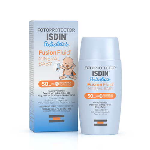 Fotoprotector Isdin Pediatrics Fusion Fluid Mineral Baby Spf 50