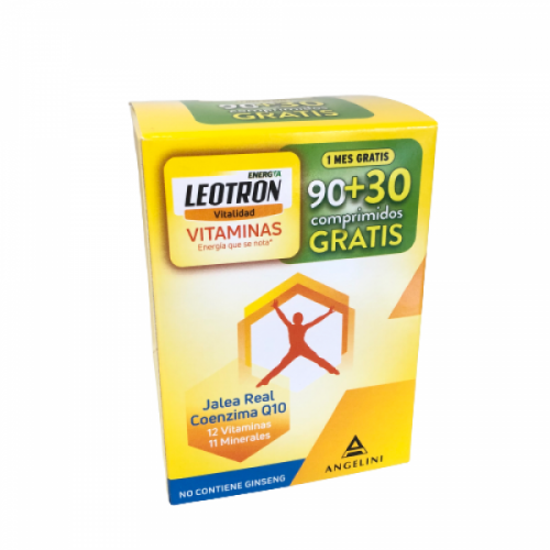 Leotron Vitaminas 90+30 Comprimidos