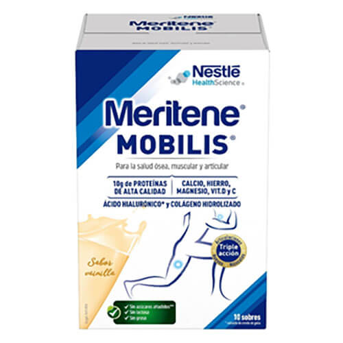 MERITENE MOBILIS - Complemento Alimenticio sabor vainilla (10x20gr)