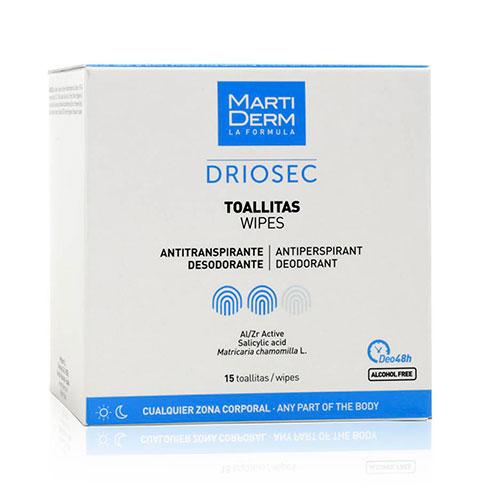 MartiDerm Driosec Toallitas Antitranspirantes