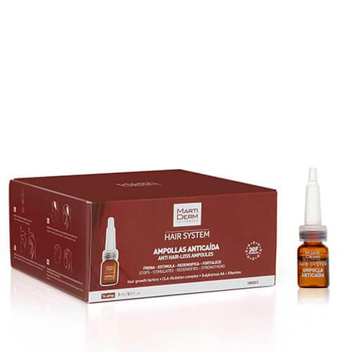 MartiDerm Hair System Tratamiento Anticaída 14 ampollas