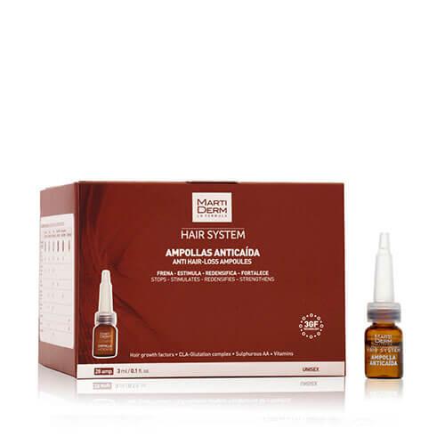 MartiDerm Hair System Tratamiento Anticaída 28 ampollas
