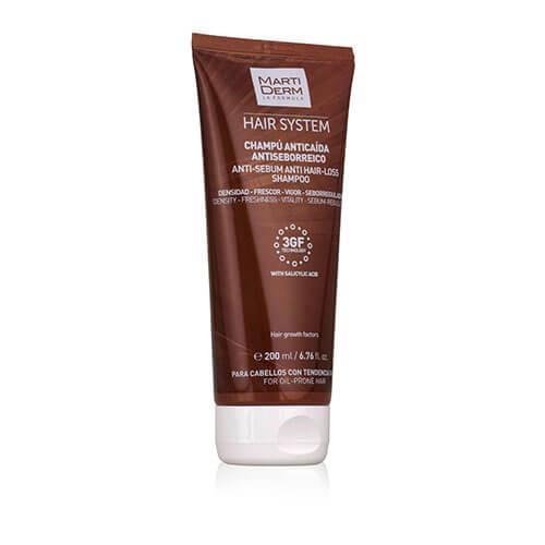 MartiDerm Hair System Champú Anticaída Antiseborreico  200 ml
