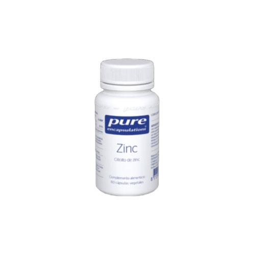 PURE Encapsulations Zinc 60 cápsulas 17g