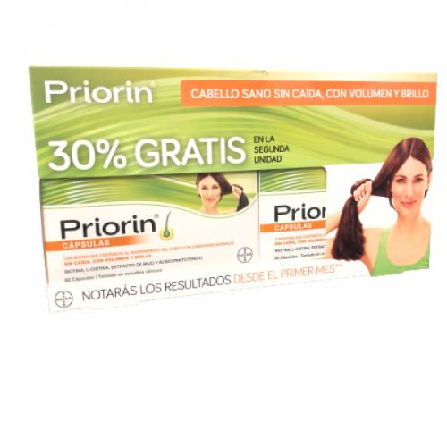 Priorin 60x60cápsulas Duplo -30%dto 2ªunidad