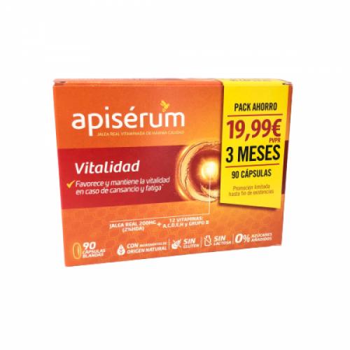 Apiserum Vitalidad Pack Ahorro 90 Capsulas