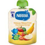 NESTLÉ Bolsita Manzana, Plátano y Fresa 90g