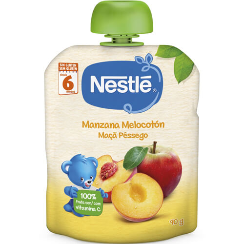 NESTLÉ Bolsita Manzana y Melocotón 90g