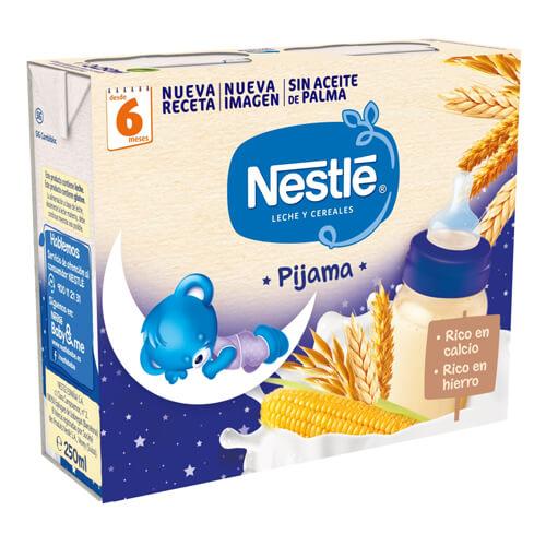 NESTLÉ Leche y Cereales 8 Cereales Pijama 2x250ml