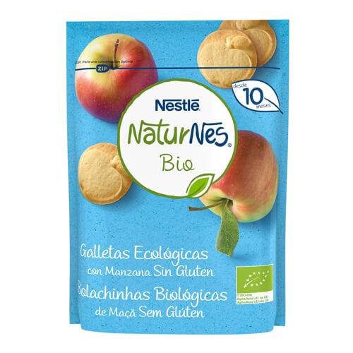 NATURNES BIO Galletas Ecológicas con Manzana Sin Gluten 150g