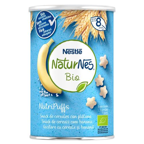 NATURNES BIO NutriPuffs Snack de Cereales con Plátano 35g
