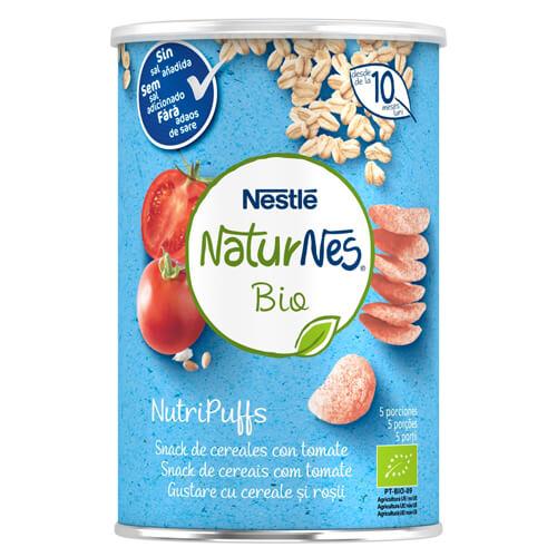 NATURNES BIO NutriPuffs Snack de Cereales con Tomate 35g