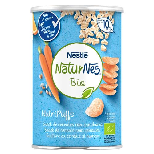NATURNES BIO NutriPuffs Snack de Cereales con Zanahoria 35g