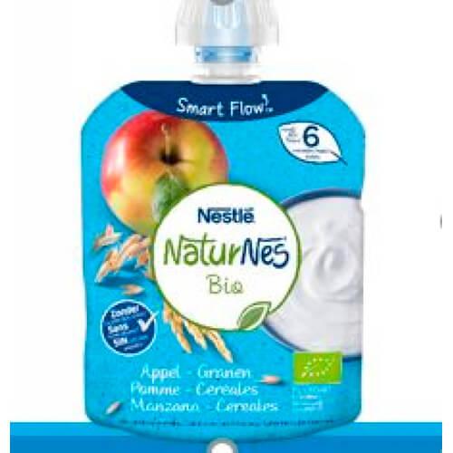 NATURNES BIO POUCH Lácteo Manzana Cereale