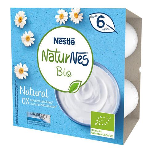 NATURNES BIO Postre Lácteo Natural 4x90g