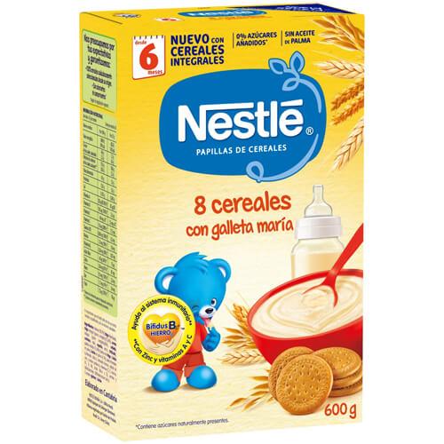 NESTLÉ Papilla 8 Cereales con Galleta María 600g